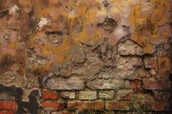 παλαιός τοίχος τούβλου Στοκ Φωτογραφία