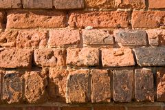 παλαιός τοίχος τούβλου στοκ εικόνες