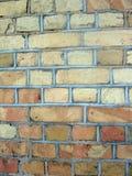 παλαιός τοίχος τούβλου &a Στοκ Εικόνα