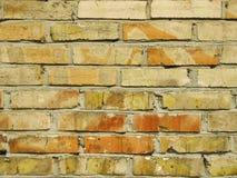 Παλαιός τούβλινος στενός επάνω σύστασης υποβάθρου τοίχων Στοκ Εικόνες