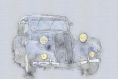 παλαιός τρύγος αυτοκινήτων απεικόνιση αποθεμάτων