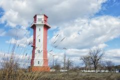 Παλαιός φάρος πλησίον Mykolaiv, Ουκρανία στοκ εικόνες