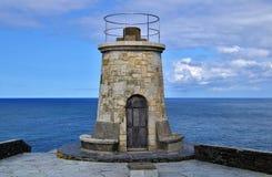 παλαιός φάρος του coaña Ισπανία ακρωτηρίων agustin SAN Στοκ εικόνα με δικαίωμα ελεύθερης χρήσης