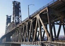 παλαιός χάλυβας γεφυρών Στοκ Φωτογραφία