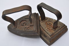 παλαιός χάλυβας σιδήρων Στοκ Φωτογραφία