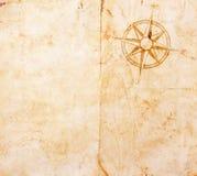 Παλαιός χάρτης θησαυρών Στοκ φωτογραφίες με δικαίωμα ελεύθερης χρήσης