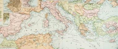 παλαιός χάρτης πανοραμικό&sig Στοκ φωτογραφία με δικαίωμα ελεύθερης χρήσης
