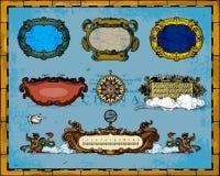 παλαιός χάρτης πλαισίων δι διανυσματική απεικόνιση