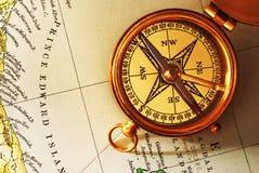 παλαιός χάρτης πυξίδων ορείχαλκου καναδικός παλαιός Στοκ Εικόνες