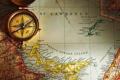 παλαιός χάρτης πυξίδων ορ&epsilo Στοκ εικόνες με δικαίωμα ελεύθερης χρήσης