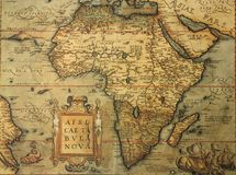 παλαιός χάρτης της Αφρικής Στοκ Εικόνες