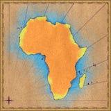 παλαιός χάρτης της Αφρικής ελεύθερη απεικόνιση δικαιώματος
