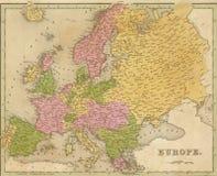 Παλαιός χάρτης της Ευρώπης Στοκ εικόνα με δικαίωμα ελεύθερης χρήσης