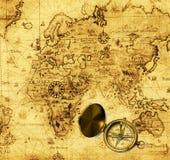 παλαιός χάρτης Στοκ Φωτογραφία