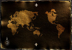 παλαιός χάρτης Απεικόνιση αποθεμάτων