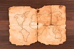 Παλαιός χάρτης Στοκ φωτογραφίες με δικαίωμα ελεύθερης χρήσης