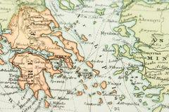 παλαιός χάρτης Στοκ Εικόνες
