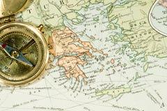 παλαιός χάρτης Στοκ Φωτογραφίες
