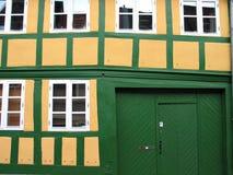 παλαιός χαρακτηριστικός σπιτιών της Δανίας στοκ εικόνες