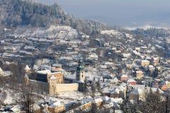παλαιός χειμώνας stiavnica κάστρω Στοκ εικόνες με δικαίωμα ελεύθερης χρήσης