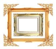 παλαιός χρυσός πλαισίων ψ&a Στοκ φωτογραφία με δικαίωμα ελεύθερης χρήσης