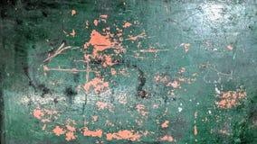 Παλαιός χρωματισμένος πίνακας μετάλλων στον πράσινο και φορεμένο πορτοκάλι χρόνο ελεύθερη απεικόνιση δικαιώματος