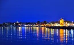 παλαιός χρόνος νύχτας μύλων Στοκ φωτογραφία με δικαίωμα ελεύθερης χρήσης