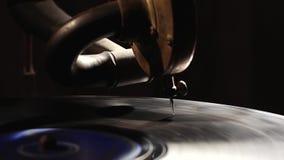 Παλαιός gramophone δίσκος παιχνιδιού απόθεμα βίντεο