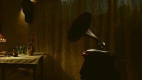 Παλαιός gramophone δίσκος παιχνιδιού φιλμ μικρού μήκους