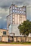 Παλαιότερο βιομηχανικό μηχανοποιημένο κτήριο αρτοποιείων στο Βιτσέμπσκ, Λευκορωσία στοκ εικόνα