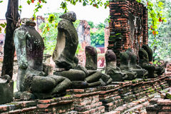 Παλαιό άγαλμα Ταϊλάνδη του Βούδα στοκ εικόνα