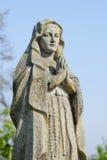 Παλαιό άγαλμα της Virgin Mary που προσεύχεται τη θρησκεία, πίστη, ιερή στοκ φωτογραφία με δικαίωμα ελεύθερης χρήσης