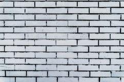 Παλαιό άσπρο κατασκευασμένο υπόβαθρο τουβλότοιχος Εκλεκτής ποιότητας τετραγωνική ασπρισμένη σύσταση Brickwall Άσπρη πλυμένη επιφά Στοκ Εικόνες