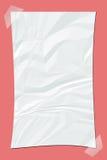Παλαιό άσπρο τσαλακωμένο έγγραφο Στοκ Φωτογραφίες