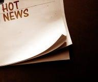 παλαιό έγγραφο ειδήσεων Στοκ εικόνες με δικαίωμα ελεύθερης χρήσης