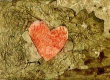 παλαιό έγγραφο καρδιών Στοκ Φωτογραφία