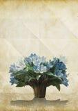 παλαιό έγγραφο λουλουδιών grunge Στοκ εικόνες με δικαίωμα ελεύθερης χρήσης