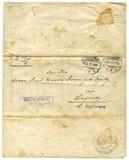 παλαιό έγγραφο του 1916 Στοκ Φωτογραφίες