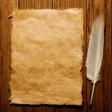 παλαιό έγγραφο φτερών Στοκ φωτογραφίες με δικαίωμα ελεύθερης χρήσης