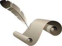 παλαιό έγγραφο φτερών Στοκ εικόνα με δικαίωμα ελεύθερης χρήσης