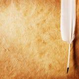 παλαιό έγγραφο φτερών Στοκ Φωτογραφίες