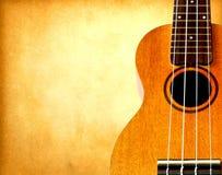 παλαιό έγγραφο ukulele στοκ φωτογραφίες