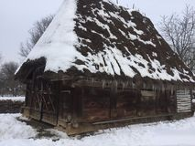 Παλαιό αγροτικό σπίτι στη Ρουμανία Στοκ εικόνα με δικαίωμα ελεύθερης χρήσης