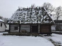 Παλαιό αγροτικό σπίτι στη Ρουμανία Στοκ εικόνες με δικαίωμα ελεύθερης χρήσης