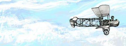 Παλαιό αεροπλάνο κατά την πτήση Στοκ εικόνα με δικαίωμα ελεύθερης χρήσης