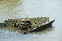 Παλαιό αλιευτικό σκάφος συντριμμιών αλιευτικών σκαφών Στοκ Εικόνες