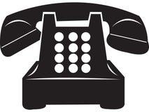 παλαιό αναδρομικό τηλέφων&om Στοκ εικόνες με δικαίωμα ελεύθερης χρήσης