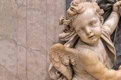 Παλαιό αρχαίο άγαλμα αγγέλου Στοκ φωτογραφία με δικαίωμα ελεύθερης χρήσης