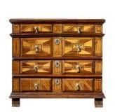 Παλαιό αρχικό εκλεκτής ποιότητας ξύλινο στήθος κορμών ή κομμών των συρταριών Στοκ Φωτογραφίες