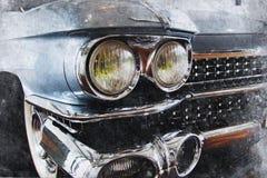 Παλαιό αυτοκίνητο διανυσματική απεικόνιση